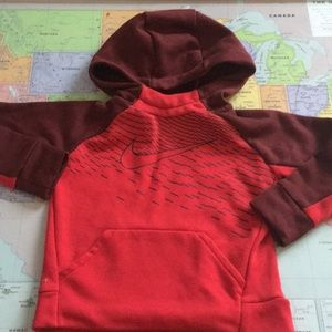 Dri-fit Nike hoodie size 2t red and maroon